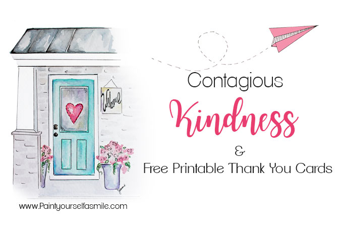 Contagious Kindness Tags  Free Printable Thank You Cards - Paint