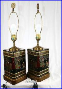 1-Pair Frederick Cooper Oriental Asian Tea Canister Table ...