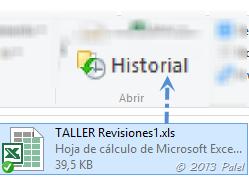 Historial de archivo