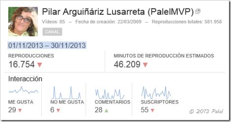 Estadísticas Palel - Noviembre 2013