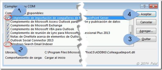 Complementos Outlook - Palel.es