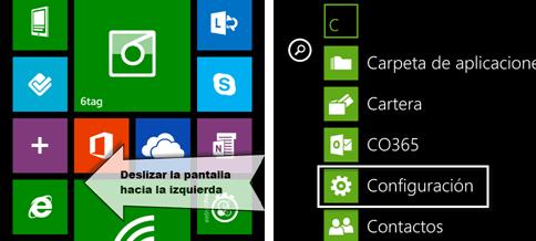 Configuración Windows Phone