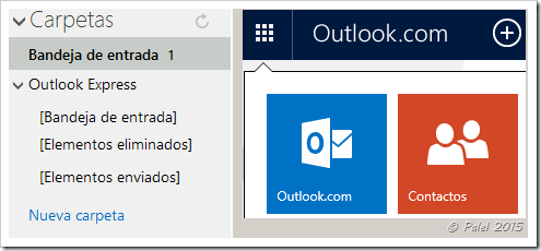 how to add contacts from windows live to outlook mail
