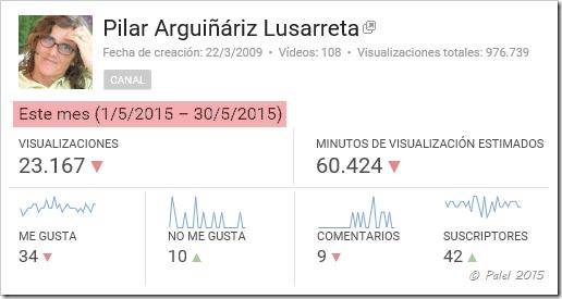 Estadísicas mayo 2015 - palel.es