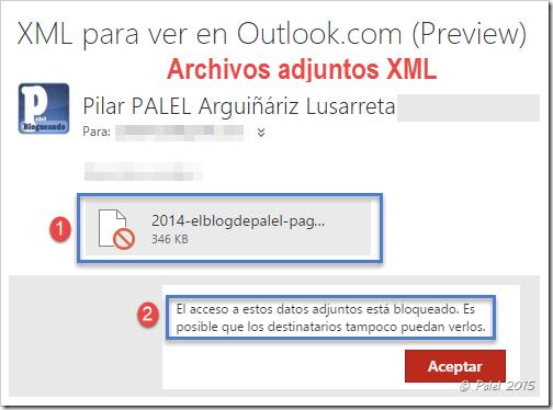 Adjuntos XML bloqueados