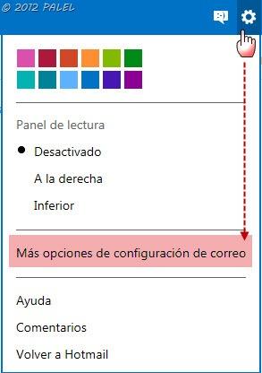 Herramientas - Opciones de OUTLOOK.COM