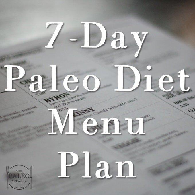 7-Day Paleo Diet Menu Plan-min