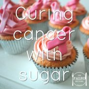 Curing cancer with sugar fund raising cupcakes cake sale paleo-min