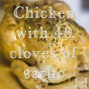 Chicken with 40 Cloves of Garlic recipe paleo diet primal dinner lunch-min