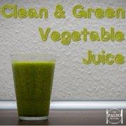 Clean and Green Vegetable Juice smoothie healthy paleo recipe primal-min