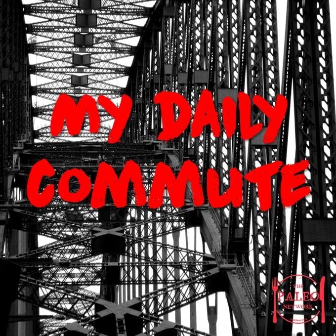 My daily commute barefoot paleo network sydney harbour bridge walking running-min