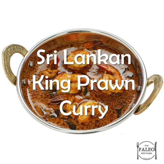 Paleo Diet Primal Recipe Sri Lankan King Prawn Curry-min