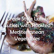 Paleo Diet Recipe Primal Greek Style Lamb Cutlets with Roasted Mediterranean Vegetables-min