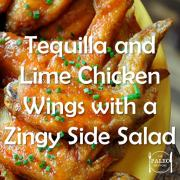 Paleo Diet Recipe Primal Tequilla Lime Chicken Wings Zingy Salad-min