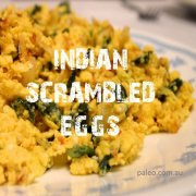 Paleo Network Recipe Indian Scrambled Eggs Breakfast-min