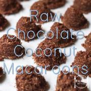 Raw Chocolate Coconut Macaroons paleo dessert sweet treat snack primal gluten free sugar free-min