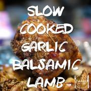 Slow cooked Garlic-Balsamic Lamb with Parsnip Mash paleo dinner recipe-min