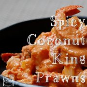 Spicy Coconut King Prawns paleo recipe seafood-min