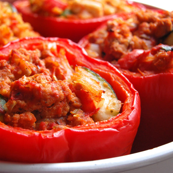 Paleo Millet and Beef Stuffed Peppers