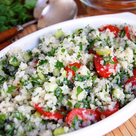 Paleo Baby Tomato and Fresh Herb Tabbouleh