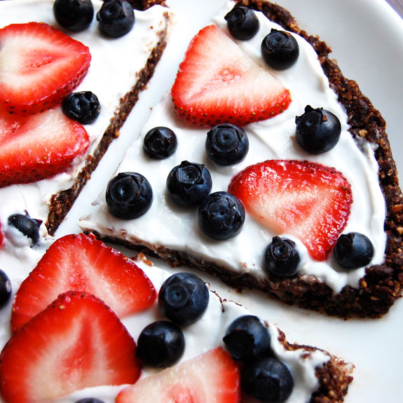 Paleo Fruit Pizza with White Chocolate
