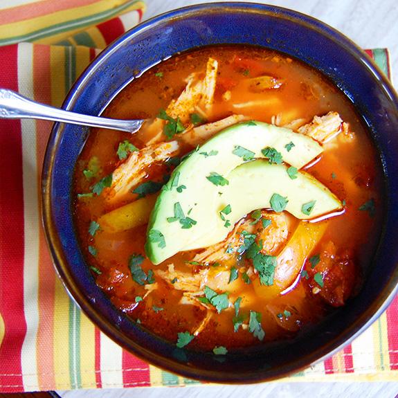Paleo Chicken Enchilada Slow Cooker Soup