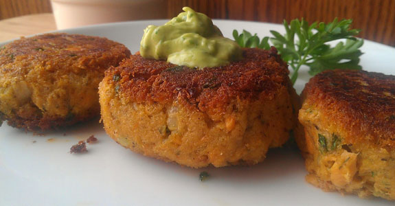Paleo Crab and Noodle Cakes with Cilantro-Lime Mayonnaise