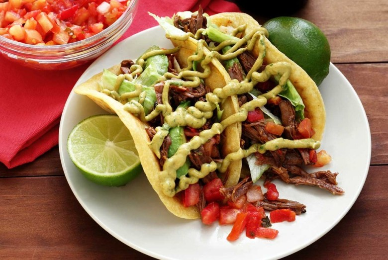 Paleo Slow Cooker Shredded Beef for Tacos and Burritos
