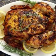 lemon herb roasted paleo whole chicken recipe from paleonewbie.com