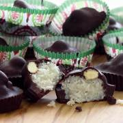 "easy paleo recipe for chocolate ""Almond Joy"" paleo treats"