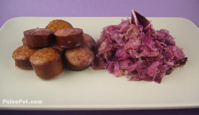 Paleo Pork Roast with Sauerkraut and Kielbasa