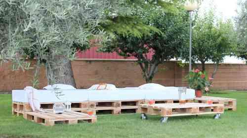 Palets para decoración jardín y terraza- PaletsOnline - Terrazas Con Palets