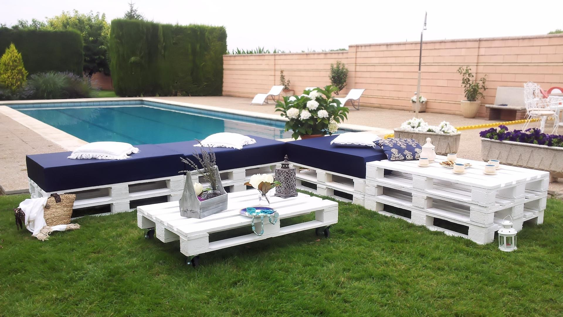 Decoracion Chill Out Exteriores Chill Out Blanco De Palets