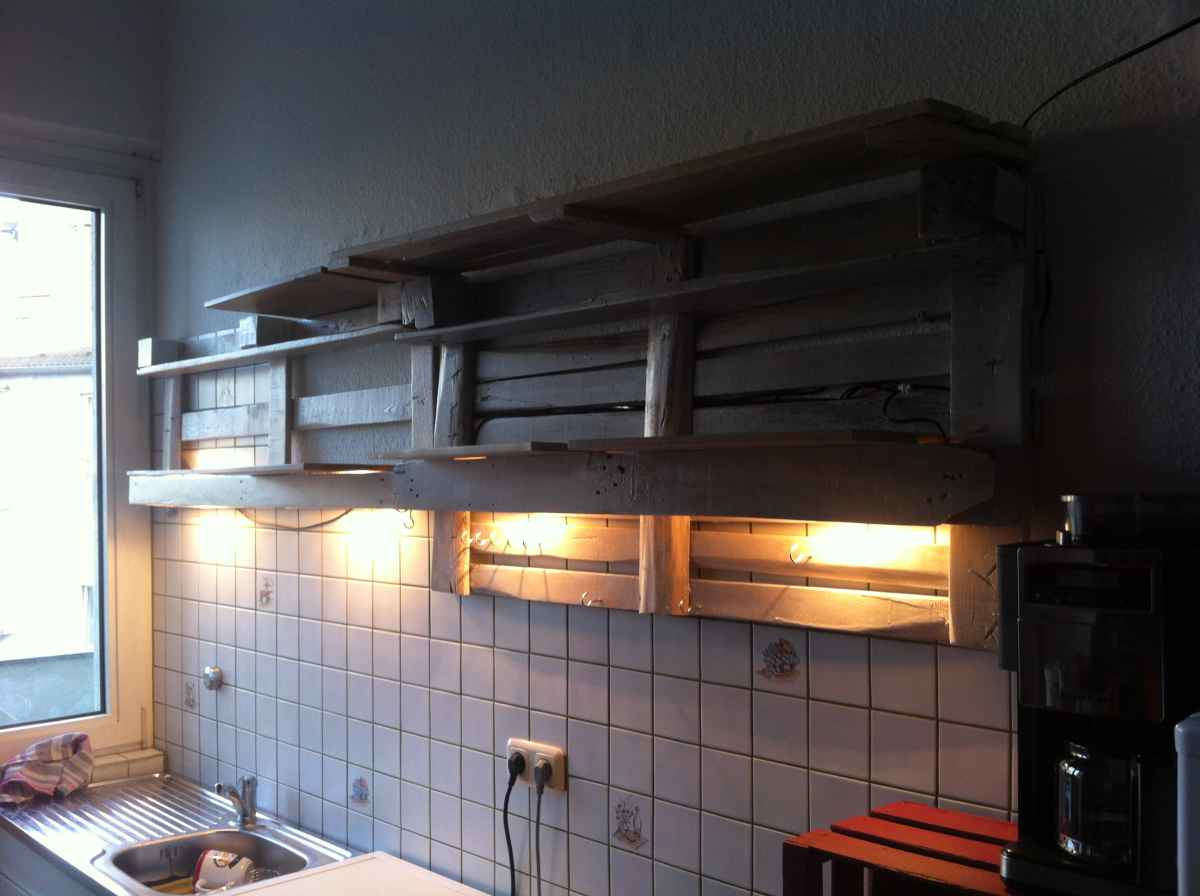Diy Küchenregal Pallet Kitchen Shelf - Diy Cupboard Alternative - Pallet Furniture
