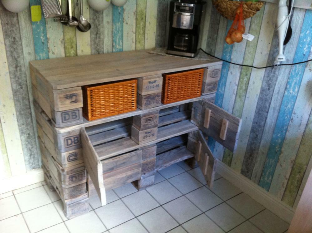 Small Cabinet With Doors Euro Pallet Kitchen Cabinet - Small Cupboard, Pallet