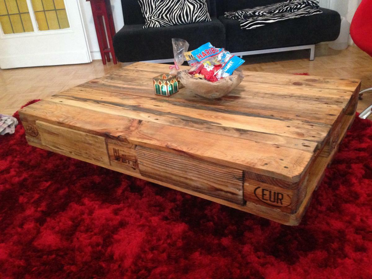 Beistelltisch Wohnzimmertisch Tisch Pallet Table: Coffee/couch Table From Euro Pallets Diy