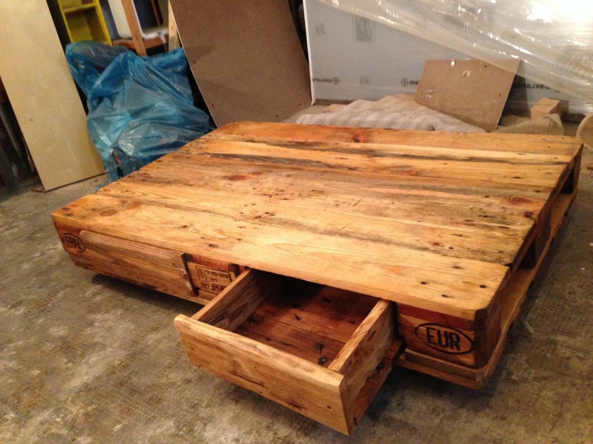 Couchtisch Do It Yourself Pallet Table Coffee Couch Table From Euro Pallets Diy