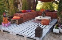 Pallet Patio Deck (Unique use of Pallet) | Pallet ...