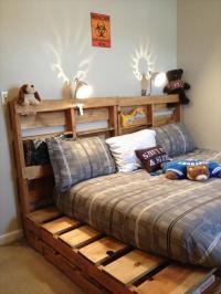 DIY Wooden Pallet Beds | Pallet Furniture Plans