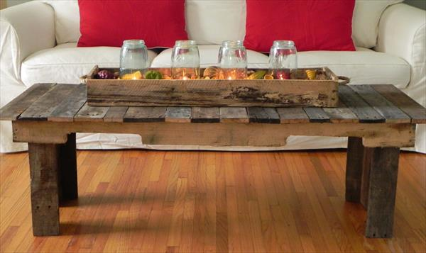 Reclaimed Pallet Coffee Table Pallet Furniture Plans