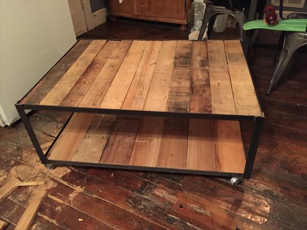 DIY Industrial Pallet Coffee Table