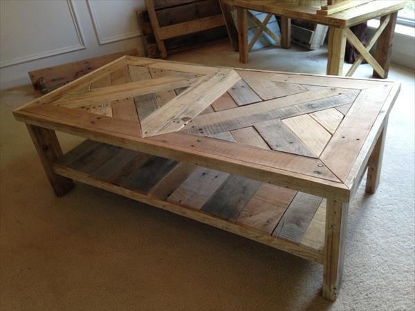 Raised Pallet Coffee Table