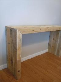 DIY Pallet Console Table | Pallet Furniture Plans