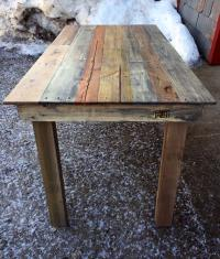 Recycled Wood Pallet Kitchen Table | Pallet Furniture Plans