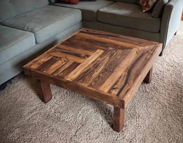 Pallet Coffee Table Plans. Good Pallet Wood Coffee Table