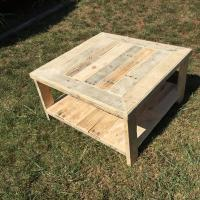 Wood Pallet Square Coffee Table | Pallet Furniture Plans