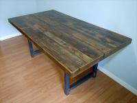 Reclaimed Wooden Pallet Dining Table | Pallet Furniture Plans