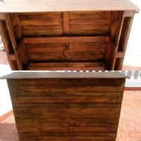 Recycled Pallets Bar Table | Pallet Furniture Plans