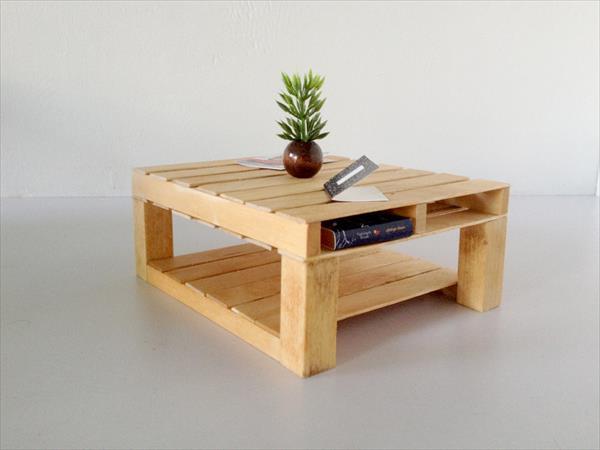 DIY Custom Built Pallet Coffee Table