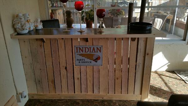 Diy Wooden Pallet Bar Table Pallet Furniture Plans